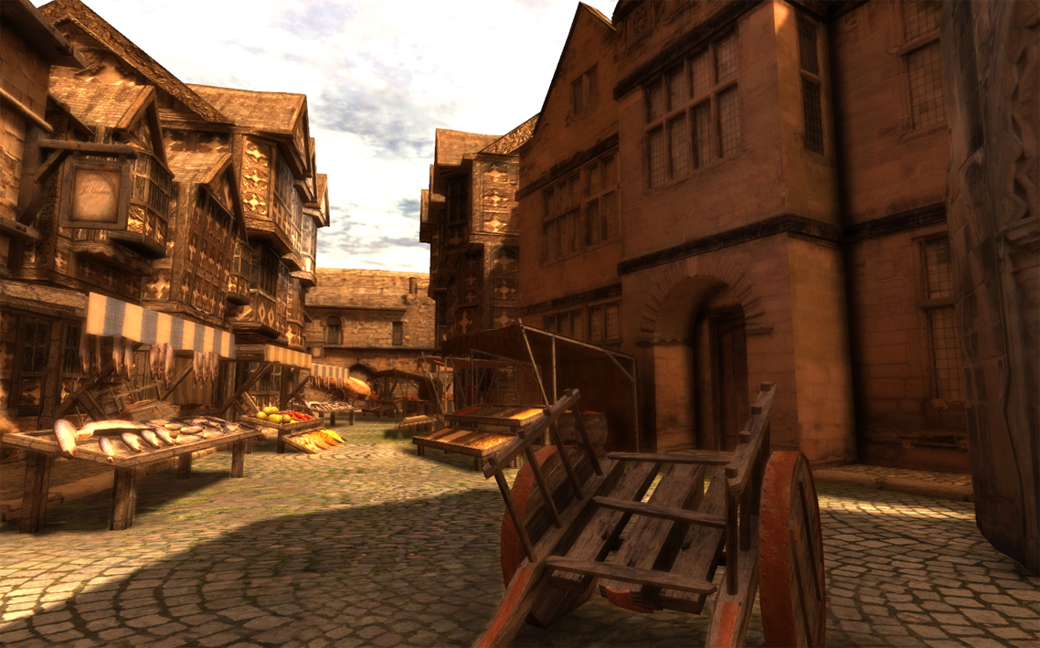 Irrlicht engine view topic arteria launch medieval for Village town